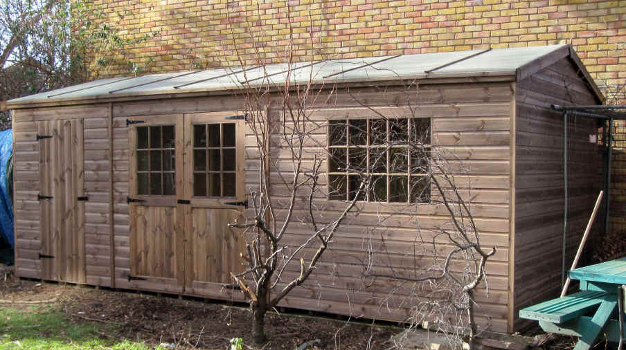 Plain Garden Sheds X Traditional Office Intended Design Ideas