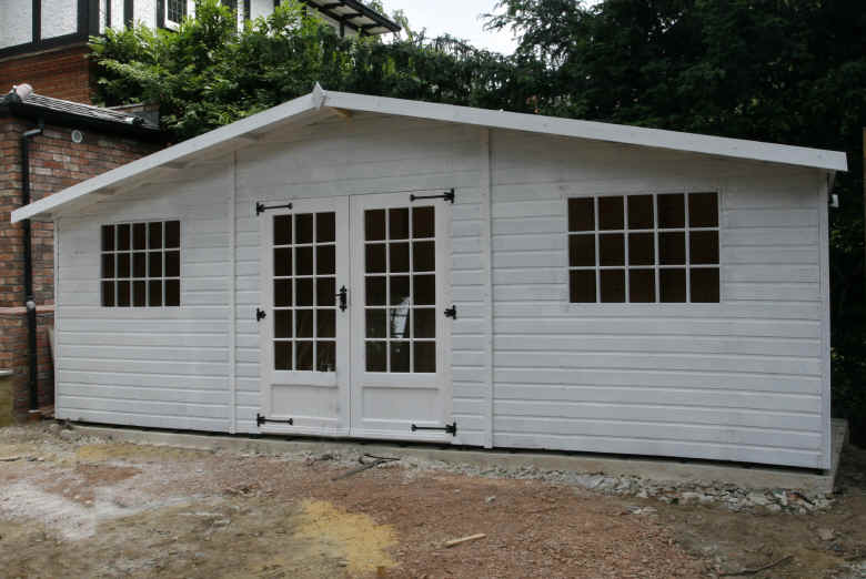 Bespoke 20 x 6 georgian gardens shed by sheds unlimited for Garden shed large