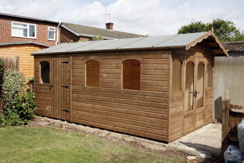 Garden Sheds 10 X 3 garden sheds with windows. green shed with white trim garden shed
