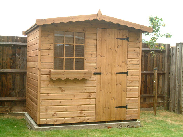 Bespoke garden sheds by sheds unlimited 7x5 chalet for Garden shed 7x5