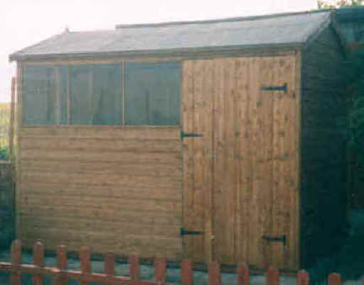 10 x 6 apex garden shed with doors in the long side by sheds unlimited - Garden Sheds 10 X 6