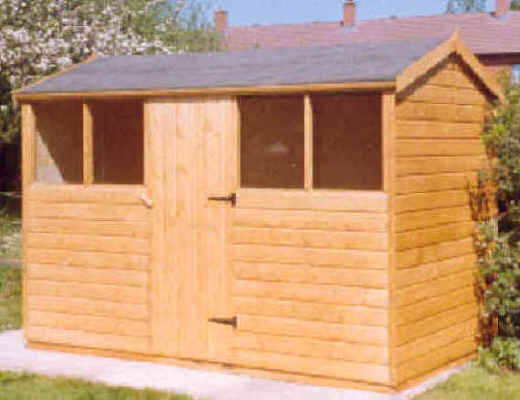 10 x 6 apex garden shed with door in the middle of the 10 by sheds - Garden Sheds 10 X 6