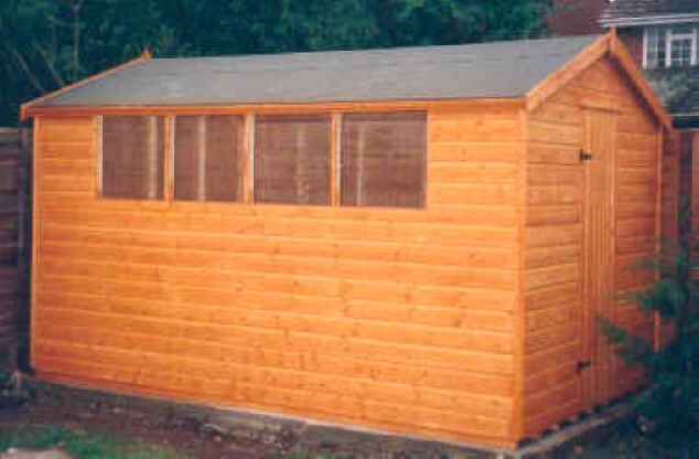 12x8 apex garden shed by sheds unlimited