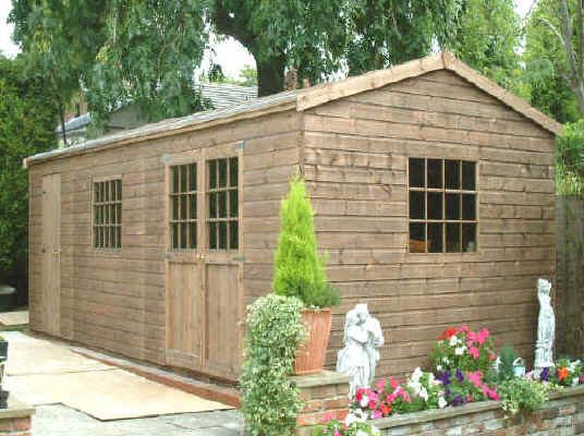 22 X 11 Cobined Home Office And Storage Gardend Shed By