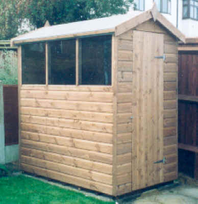 Beau ... Garden Shed By Sheds Unlimited 6x4 Apex Shed By Sheds Unlimited ...