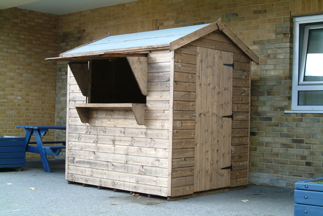 Bespoke 6 X 4 Tuck Shop Shed By Sheds Unlimited