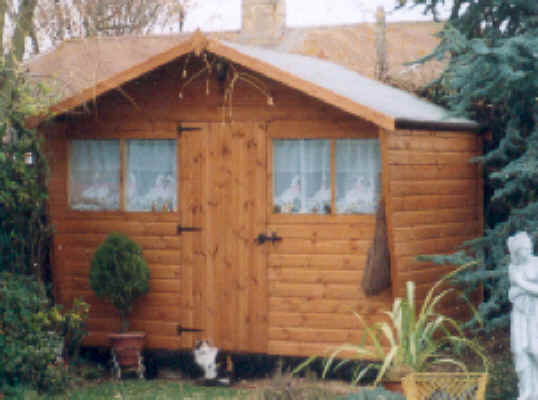 0 x 6 chalet style garden shed with extended roof and sides - Garden Sheds 10 X 6