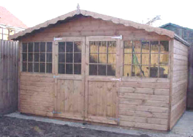 garden sheds essex 12x8 georgian chaletthe shed shop - Garden Sheds Essex