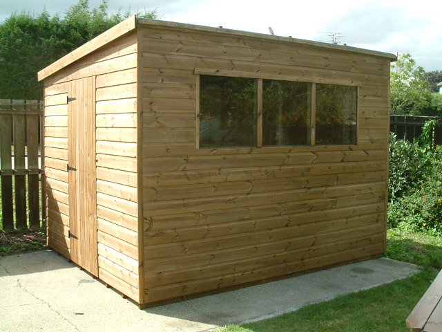 Garden sheds by sheds unlimited 10x8 pent with end door for Garden shed essex