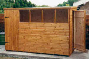 10 x 6 pent garden shed with addition door by sheds unlimited