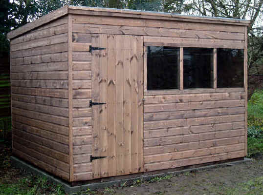 Pent roofed garden sheds by sheds unlimited for 10x8 shed floor plans